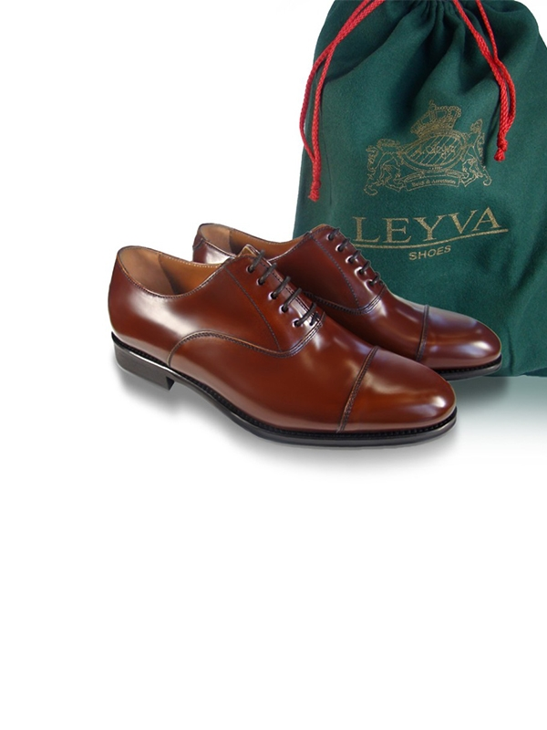 Zapato Leyva Denis novo-antic tabac-12105